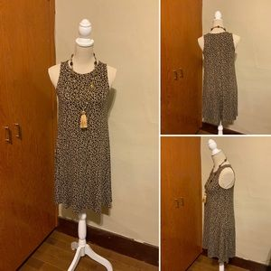OLD NAVY leopard print dress A-line Size Small
